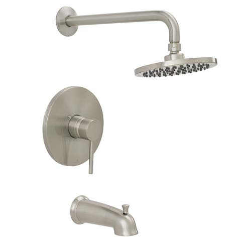 Jones Stephens 155928 Volos Tub and Shower Trim Package with 1.8 GPM Single Function Shower Head