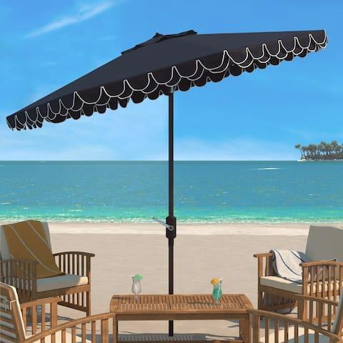 SAFAVIEH Outdoor Living Elegant Valance 11Ft Round Umbrella