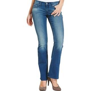 Levi's Womens Juniors 524 Bootcut Jeans Medium Wash Slim Fit - 13m