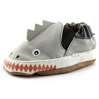 Robeez Shark Attack Infant Round Toe Canvas Gray Ballet Flats
