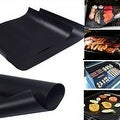 2-Pack: Nonstick Reusable Dishwasher-Safe BBQ Grill Mats - Thumbnail 1