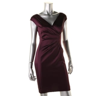 Lauren Ralph Lauren Womens Sateen Pleated Cocktail Dress
