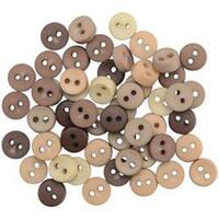 Dress It Up Embellishments-Tiny Round Natural Buttons