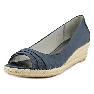 Life Stride Occupy W Open Toe Canvas Wedge Heel