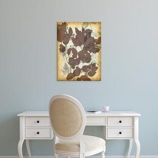 Easy Art Prints Jennifer Goldberger's 'Leaf Letters II' Premium Canvas Art