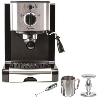 Capresso EC100 Pump Espresso & Cappuccino Machine with Frother Bundle