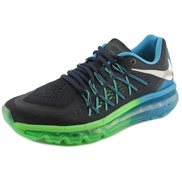 Nike Air Max 2015 Men Round Toe Synthetic Black Running Shoe