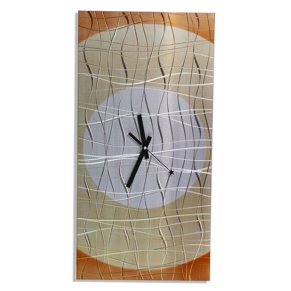 Statements2000 Copper 24-inch Metal Hanging Wall Clock - Nightfall Clock