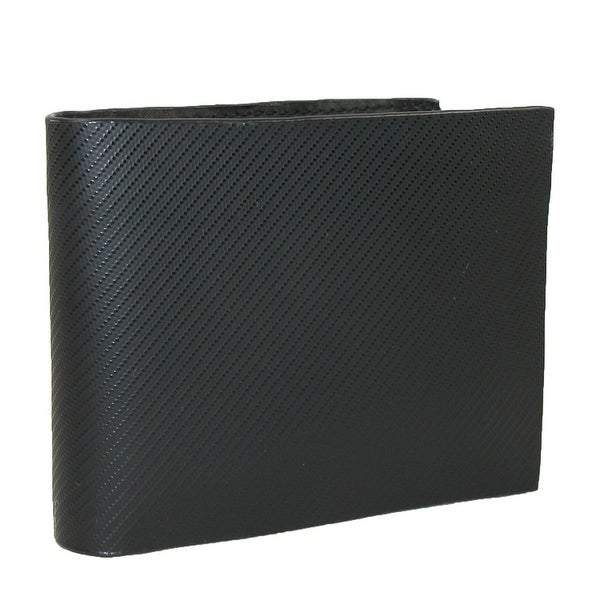 CTM® Men's Leather Bilfold Wallet with Textured Diagonal Finish - One size