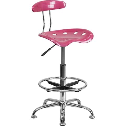 Brittany Pink Professional Drafting Stool w/Tractor Seat
