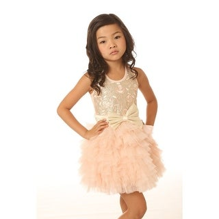 Ooh! La La! Couture Baby Girls Pink Champagne Bodysuit Tutu Dream Dress