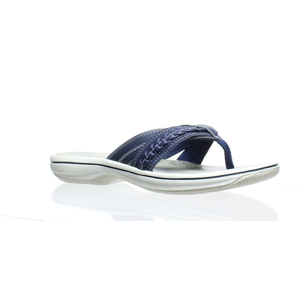 4c845d388082 Shop Clarks Womens Brinkley Nora Navy Flip Flops Size 6.5 - On Sale - Free  Shipping On Orders Over  45 - Overstock - 27568611
