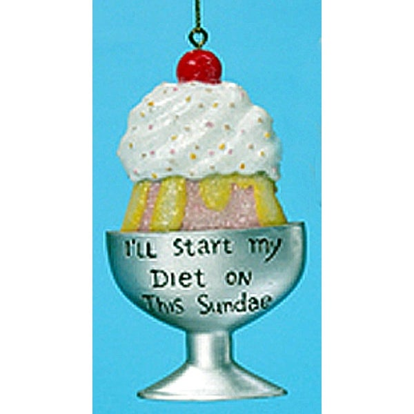 I'll Start My Diet On This Sundae Christmas Ornament