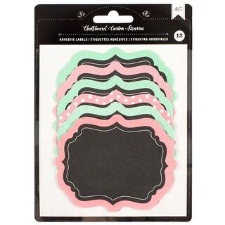 "American Crafts Chalkboard Labels 12/Pkg-3.25""X3.75"" Pattern"