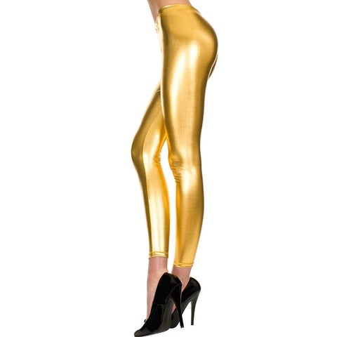 Metallic Legging, Shiny Tights - One Size Fits most