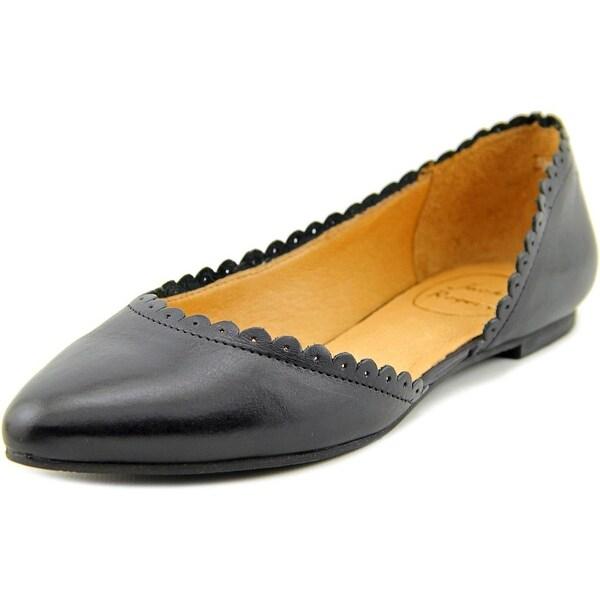 Jack Rogers Chantel Women Pointed Toe Leather Black Flats