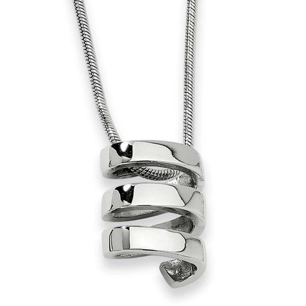 Chisel Stainless Steel Pendant Necklace (2 mm) - 18 in