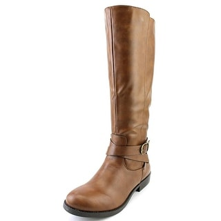 Style & Co Madixe Women Round Toe Synthetic Brown Knee High Boot