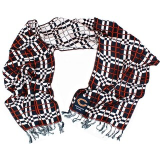 Chicago Bears NFL Team Checkered Logo Scarf