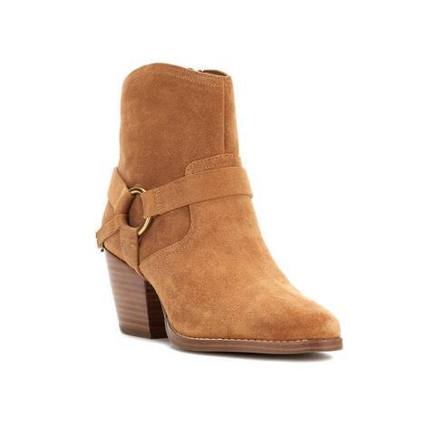 Michael Kors Women's Suede Goldie Western Boots Brown Buck