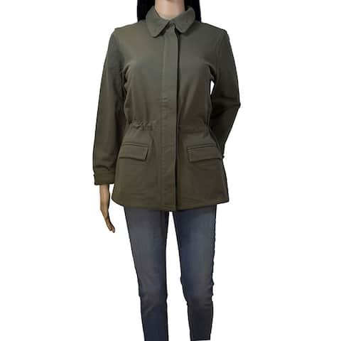 James Perse Argn Army Green Lightweight Jacket