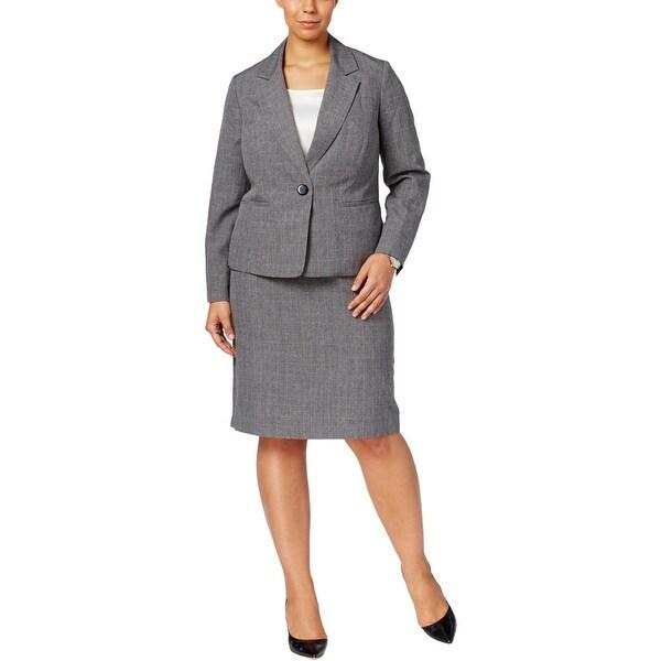 a14c4ef454 Shop Le Suit Womens Plus Skirt Suit Glen Plaid Professional - Free ...