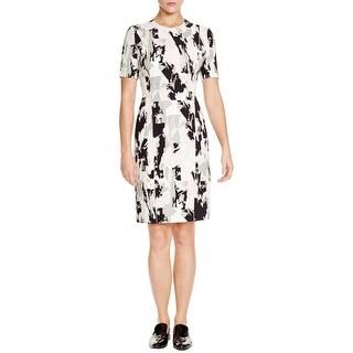 BOSS Hugo Boss Womens Depina Wear to Work Dress Crepe Printed