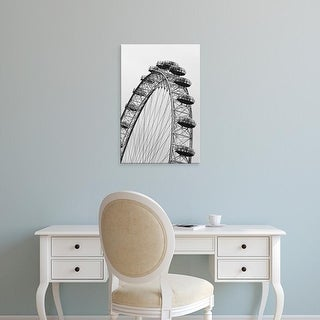 Easy Art Prints Walter Bibikow's 'London Eye / Dawn' Premium Canvas Art