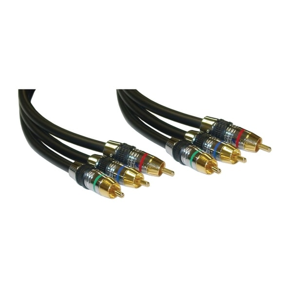 Offex Premium Component Video RCA Cable, 3 RCA Male, Gold Connectors, CL2, 75 foot