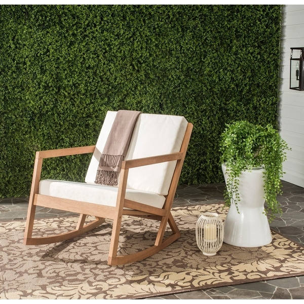 Safavieh Outdoor Living Vernon Brown/ Beige Rocking Chair. Opens flyout.