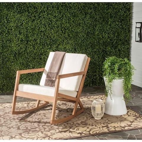SAFAVIEH Outdoor Vernon Rocking Chair with Cushion