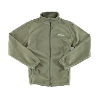 Columbia Solid Green Mens Size Small S Full-Zip Fleece Jacket