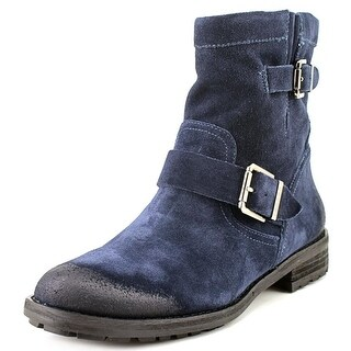 Vince Camuto Rubina Women Round Toe Suede Blue Boot