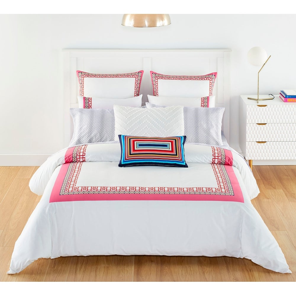 Must Have Trina Turk Theodora Cotton Pink Duvet Cover Set Full Queen From Trina Turk Accuweather Shop