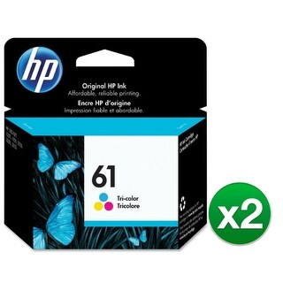 Hewlett Packard CH562WN#140 (2-Pack) HP 61 Ink Cartridge - Cyan, Magenta, Yellow - Cyan, Magenta, Yellow - Inkjet - 165 Page - 1