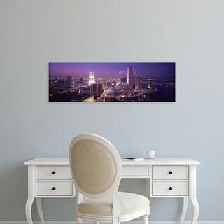 Easy Art Prints Panoramic Images's 'High Angle View Of A City, Miami, Florida, USA' Premium Canvas Art