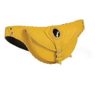 Ladies Yellow Leather Belt Bag With Gun Holster