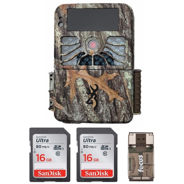 Browning Recon Force 4K 32MP Trail Camera with 2 Memory Cards and Reader - Camouflage