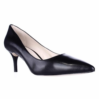 Nine West Margot Pointed-Toe Classic Pumps - Black Leather