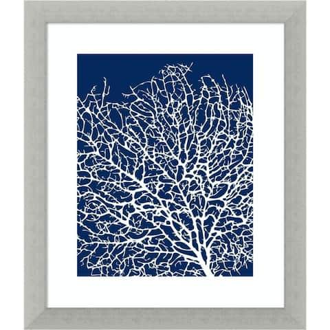 Navy Coral I by Sabine Berg Framed Wall Art Print