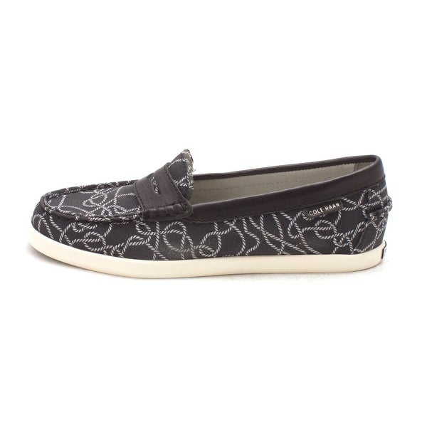 Cole Haan Womens Vanjasam Closed Toe Loafers, Black/White Ropes, Size 6.0