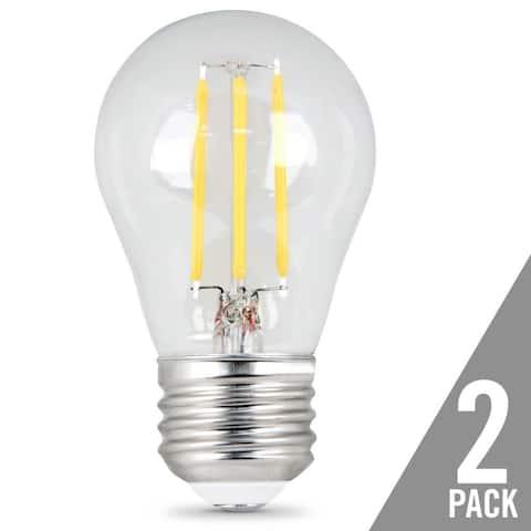 Feit Electric BPA1560/850/LED/2 Dimmable LED Light Bulb, 500 lm, 6 Watt, 2-Pack