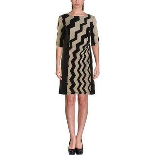 Julian Taylor Womens Wear to Work Dress KNit Textured