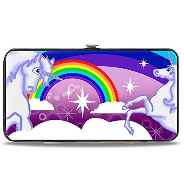 Buckle-Down Hinge Wallet - Unicorns