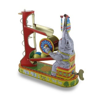 Elephant w/Ball-Game Vintage Style Mechanical Wind-Up Toy
