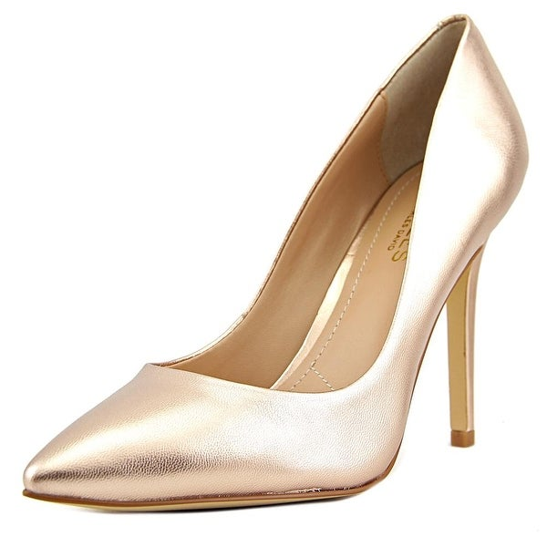 Charles By Charles David Pact Women Pointed Toe Leather Bronze Heels