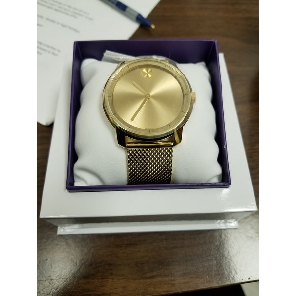 3c868c8e3 Shop Movado Bold Gold-tone Mens Watch 3600373 - Free Shipping Today -  Overstock - 17178694