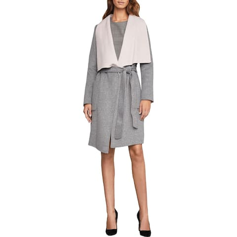 BCBG Max Azria Womens Chanel Coat Drapey Jacket