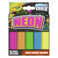 Crayola Special Effects Chalk Set, Assorted Neon Colors, Set of 5