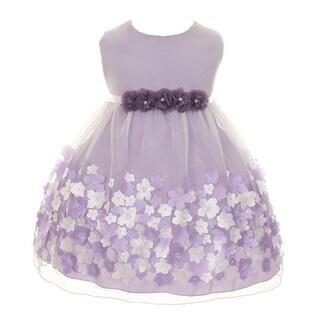 Kids Dream Baby Girls Lavender Taffeta Flowers Sleeveless Easter Dress 3-24M